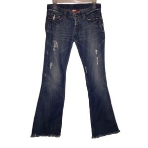 Lucky Brand Jeans, Ripped Distressed Flare, Fringe